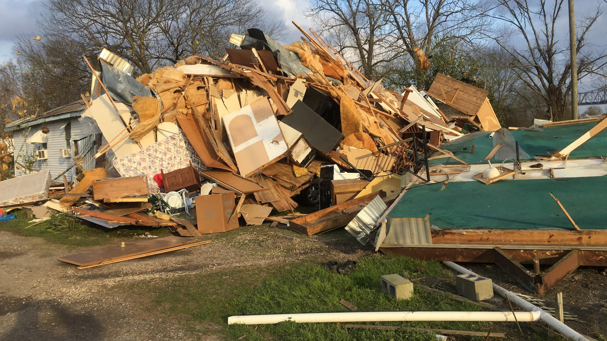 Welcome tornado damage