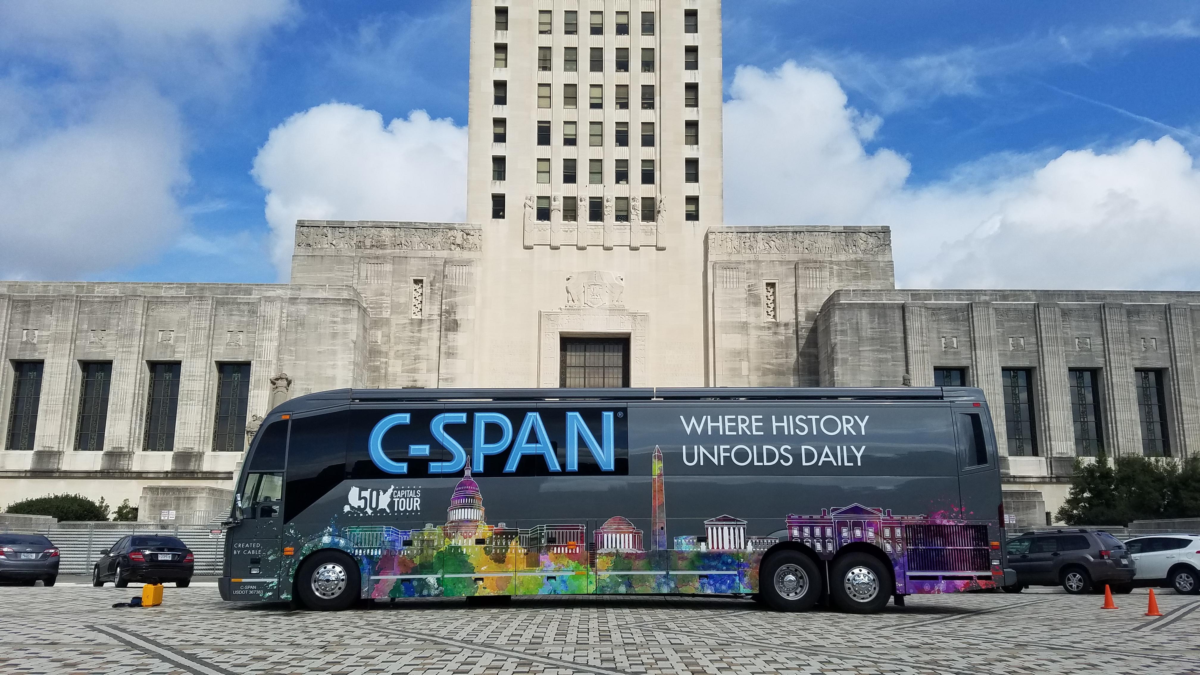 50 Capitals Tour Brings C Span Bus To Baton Rouge