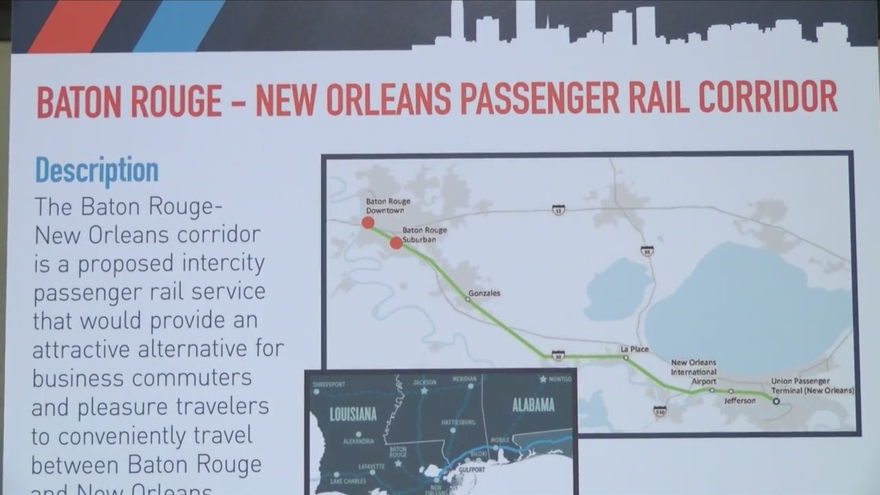 New train commute from New Orleans to Baton Rouge underway