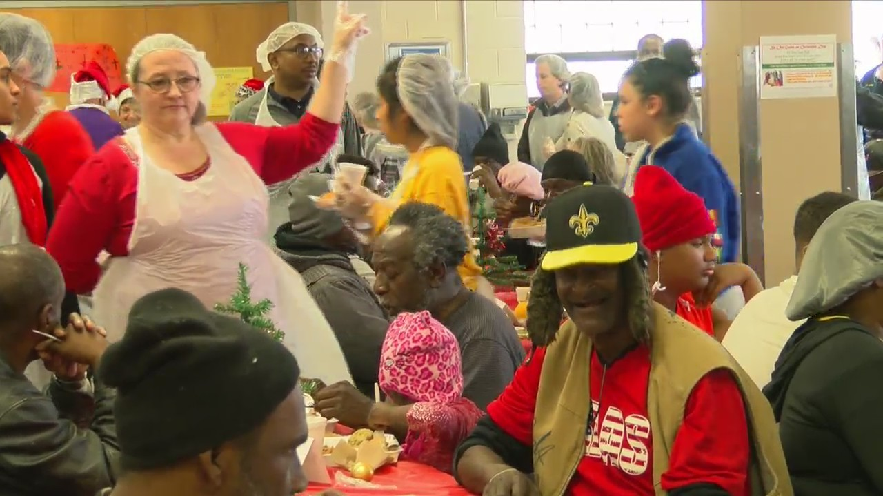 St. Vincent de Paul's Christmas feeding