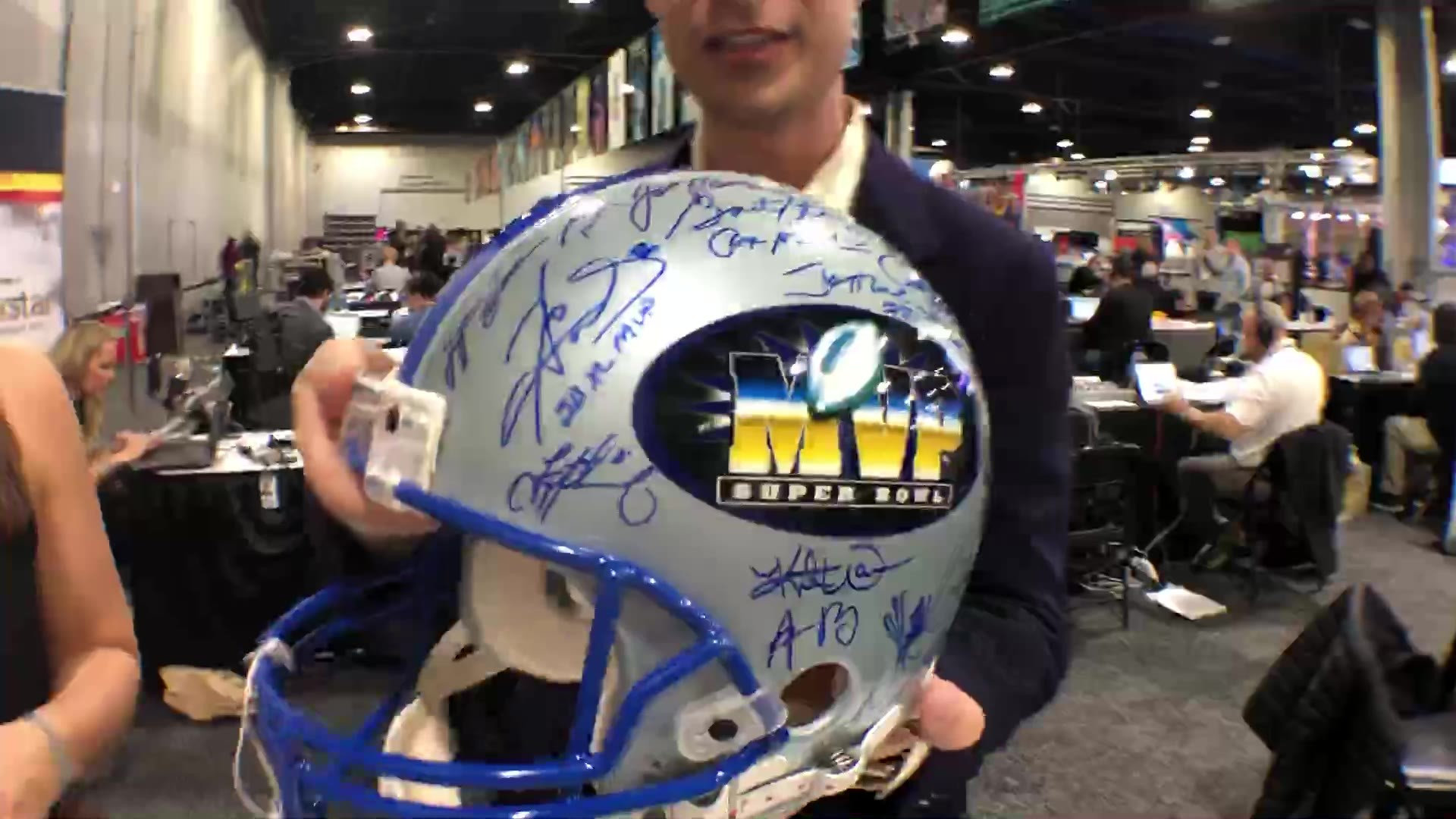 Big Game Memorabilia: How much a helmet signed by 41 SB MVPs costs