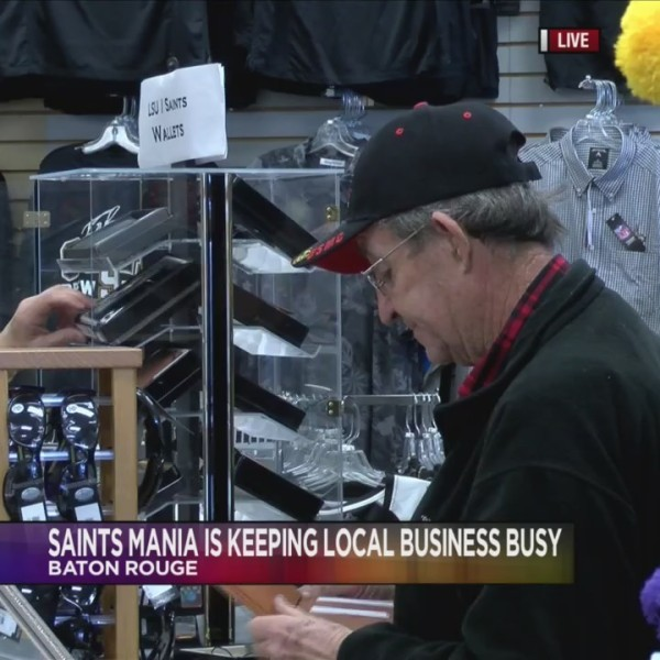 Saints mania is keeping local stores busy