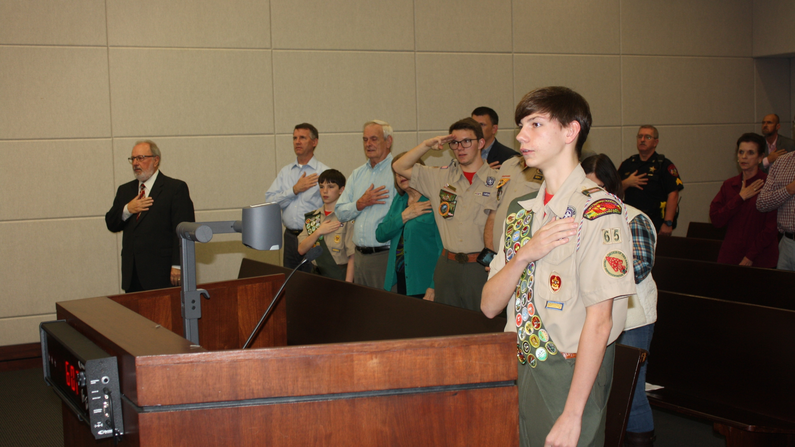 Photo #2 - Eagle Scout Andrew Poche leads the Pledge of Allegiance_1551125916671.JPG.jpg