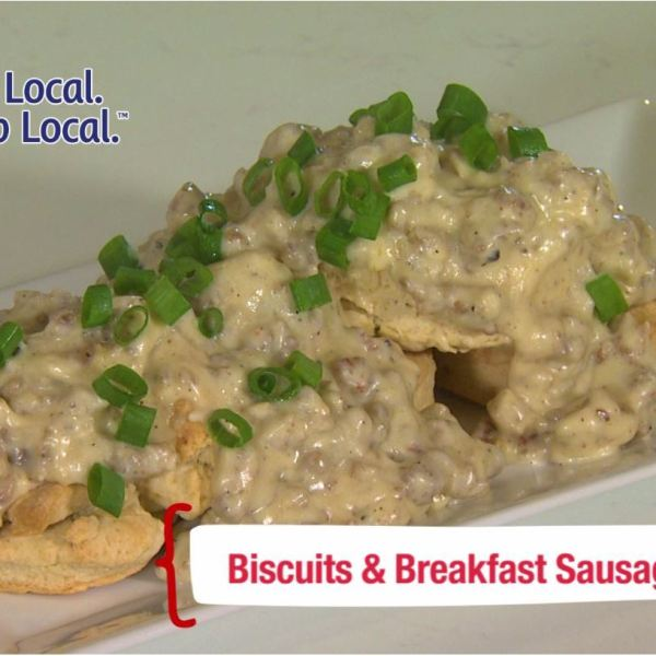 Cookin Louisiane - Biscuits and Breakfast Sausage Gravy
