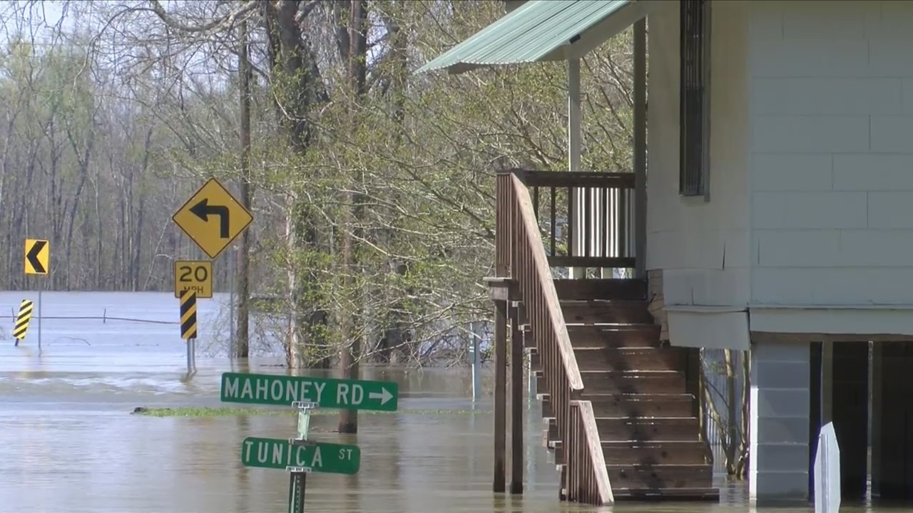 Flooding in West Feliciana Parish Turns Portions of St
