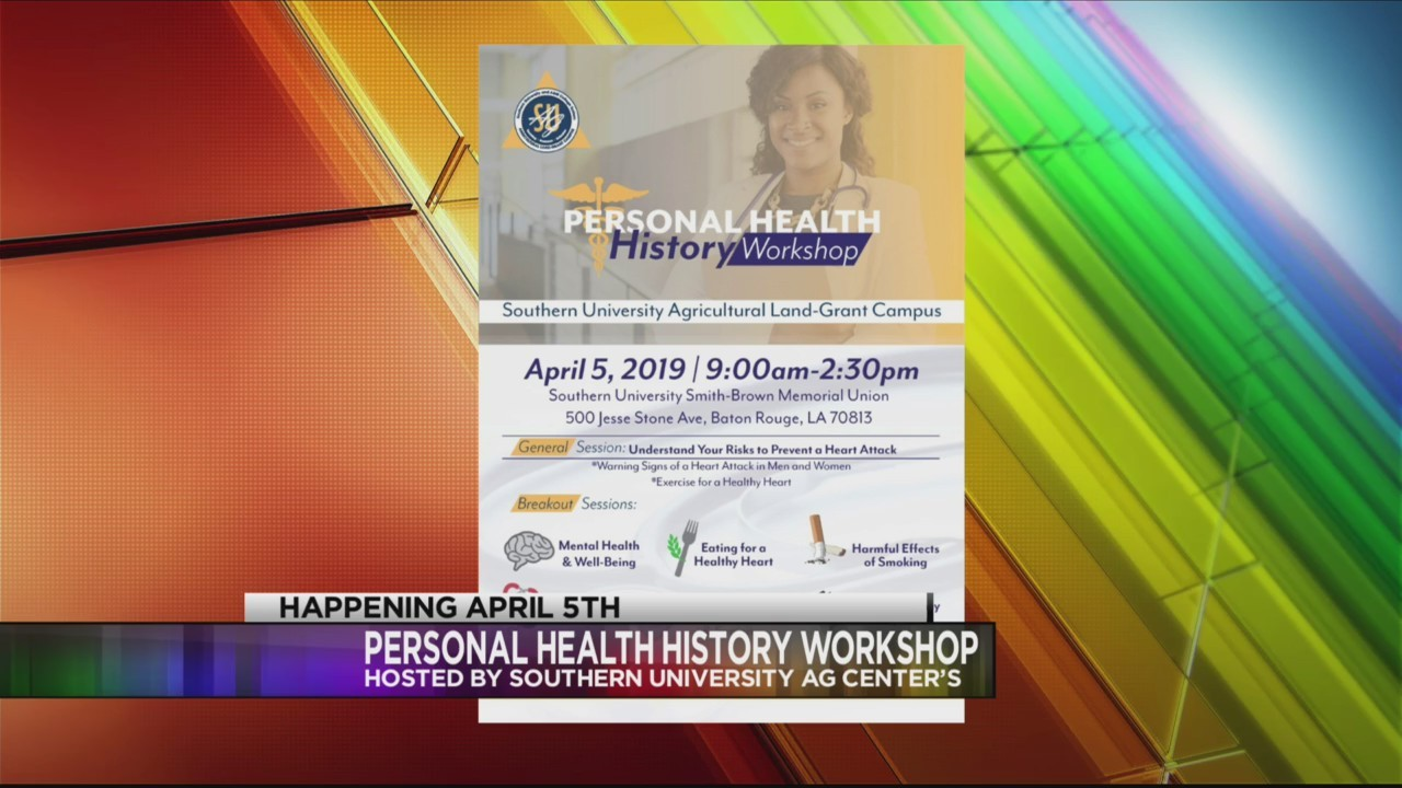 Southern Ag Center to host Personal Health History Workshop