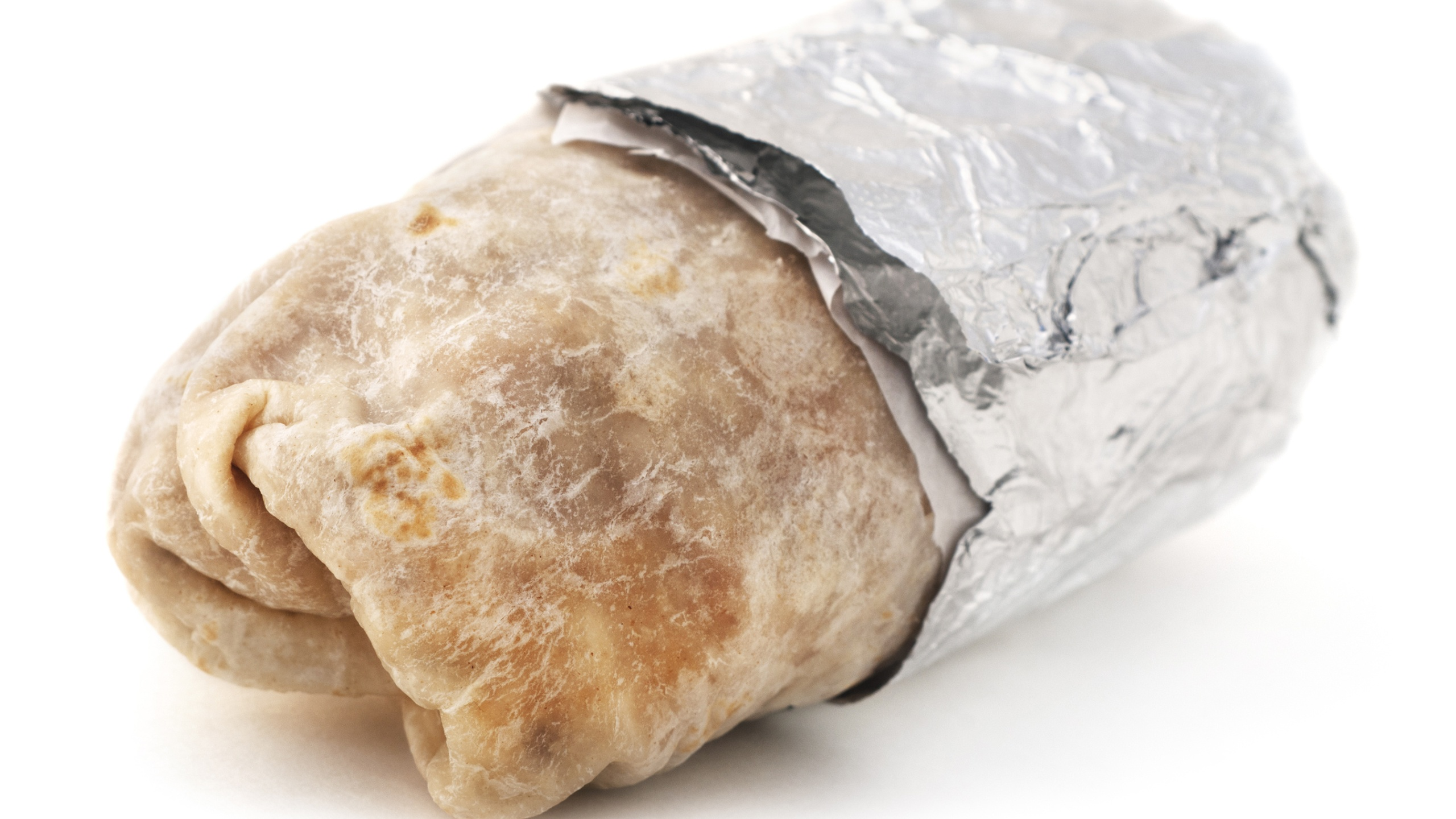 Isolated mexican burrito on a white background._1559157610083