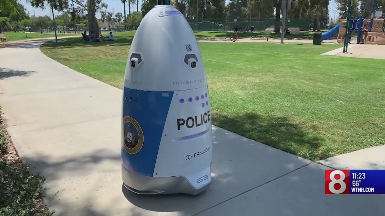 Police department in California activates its own robocop