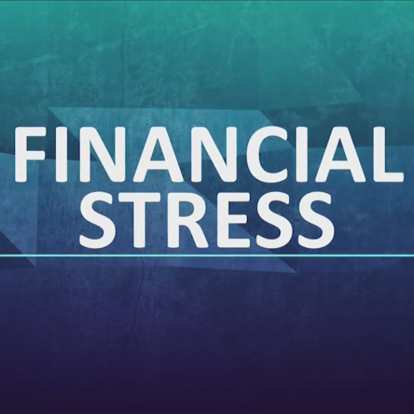 """Text that reads """"Financial Stress"""""""
