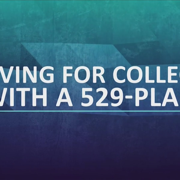 """Text that says """"Saving for college with a 529-Plan"""""""