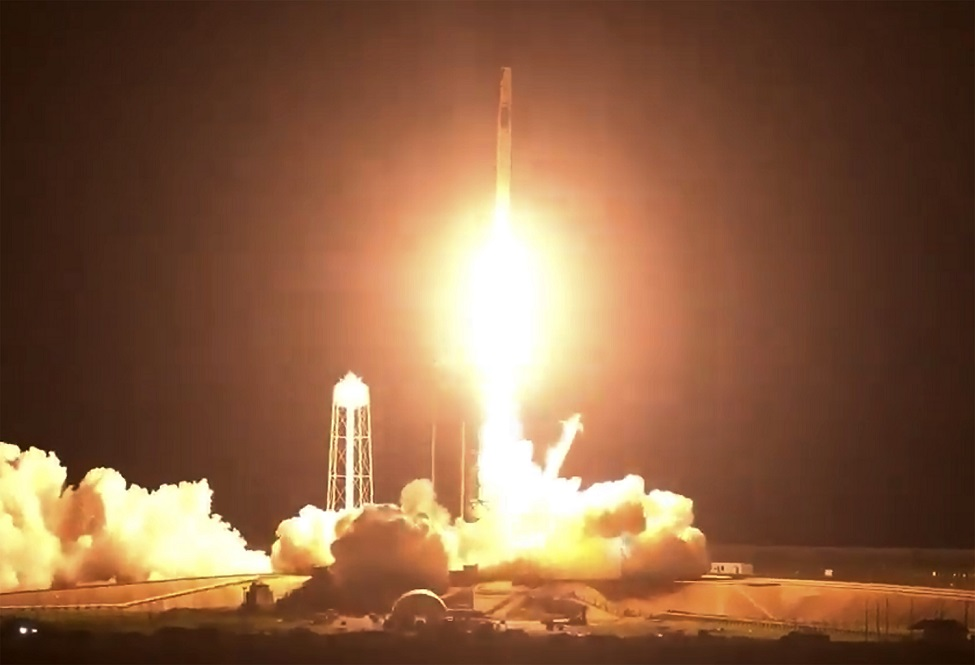 WATCH: NASA, SpaceX launch 4 astronauts to space station on recycled rocket, capsule - BRProud.com